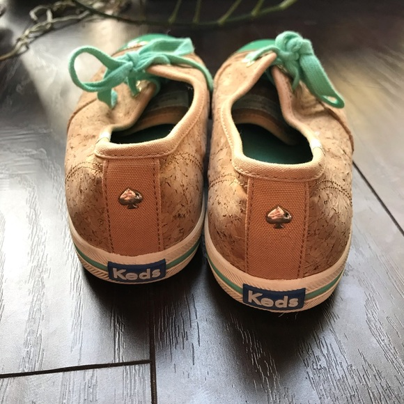 Kate Spade cork and turquoise keds